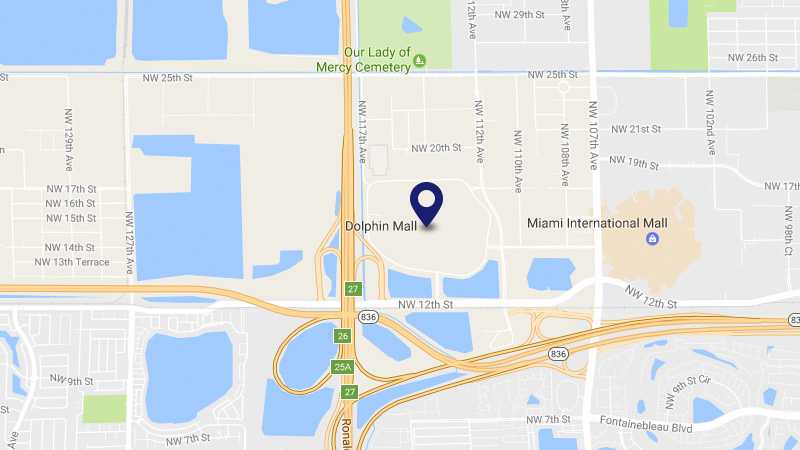 Dolphin Mall Miami Map
